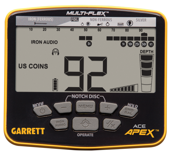 Display Garrett ACE Apex
