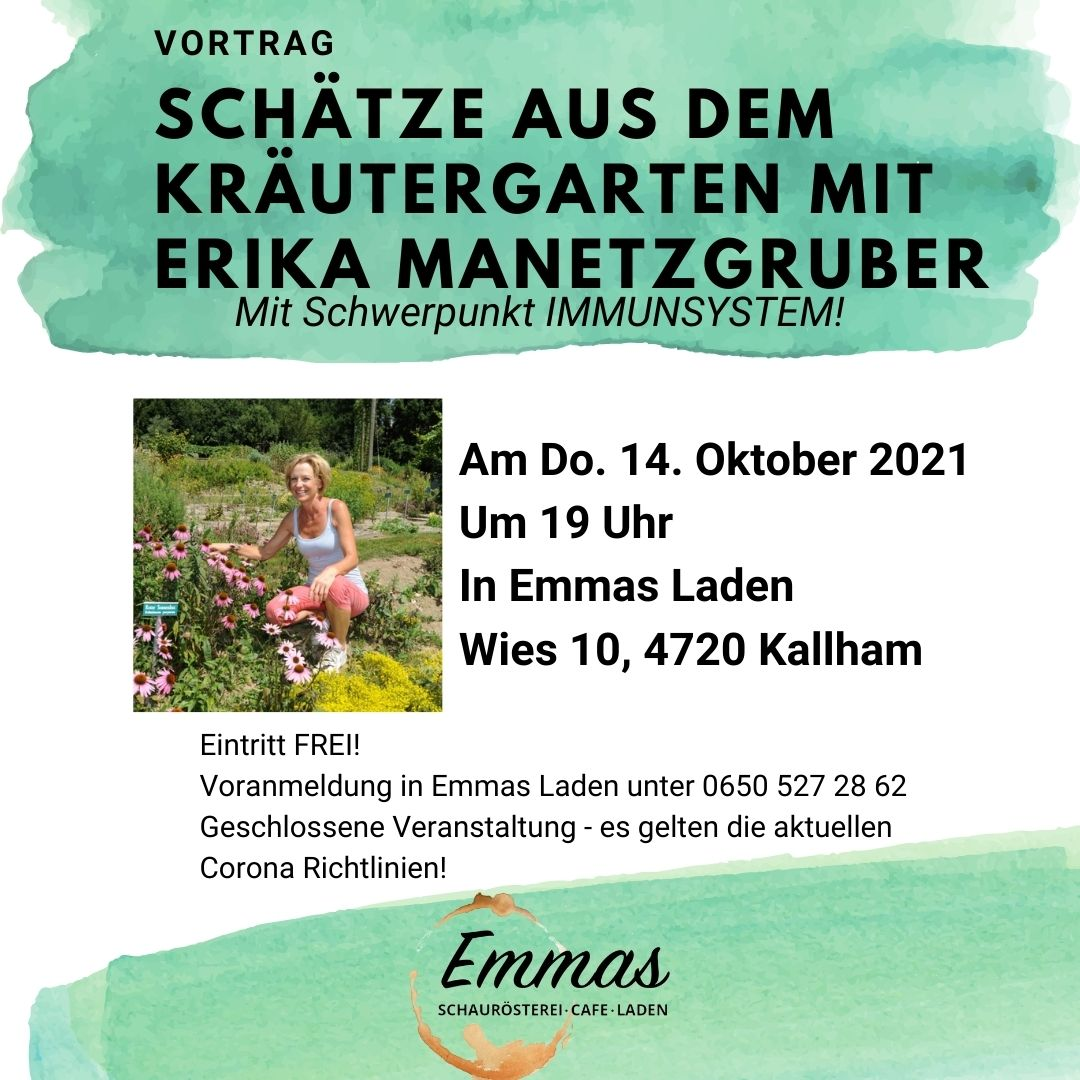 Vortrag Schätze aus dem Kräutergarten mit Erika Manetzgruber!