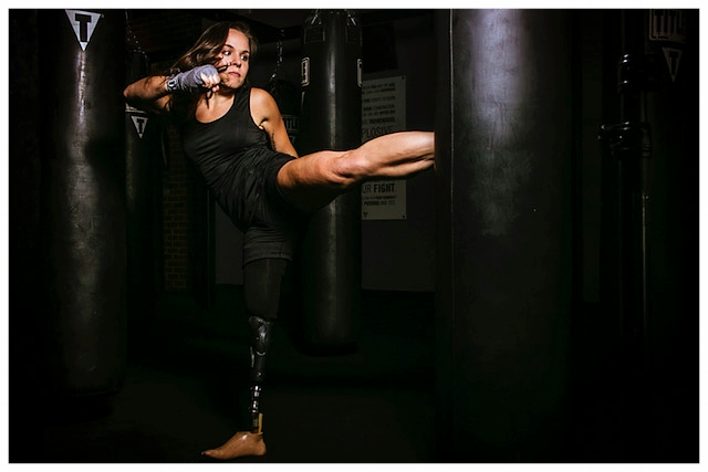 Amy's journey took her from fearing all sports activities to being a passionate boxer and kick boxer  (picture copyright by Nathan Mantor, courtesy of Amy Bream)