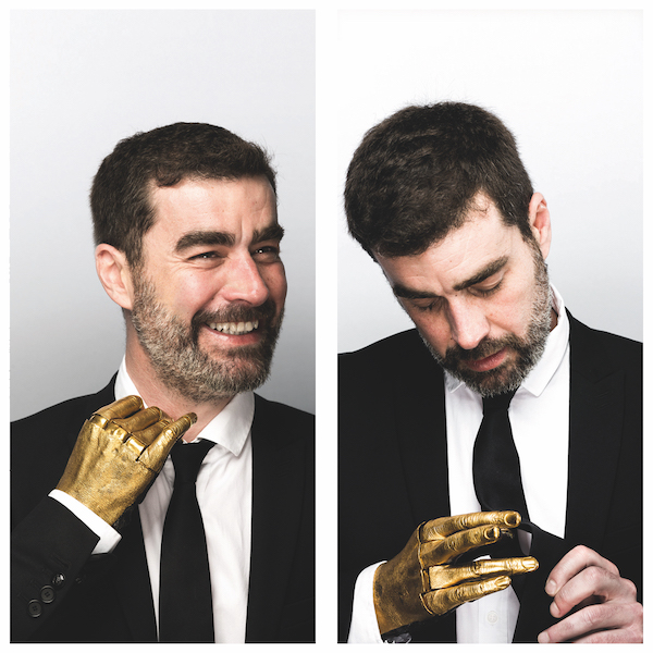 Five pictures and Me: Patrice with his golden hand made by an artist (very proud to have it as there is only one of its kind in the world) (picture courtesy of Patrice Meaume)