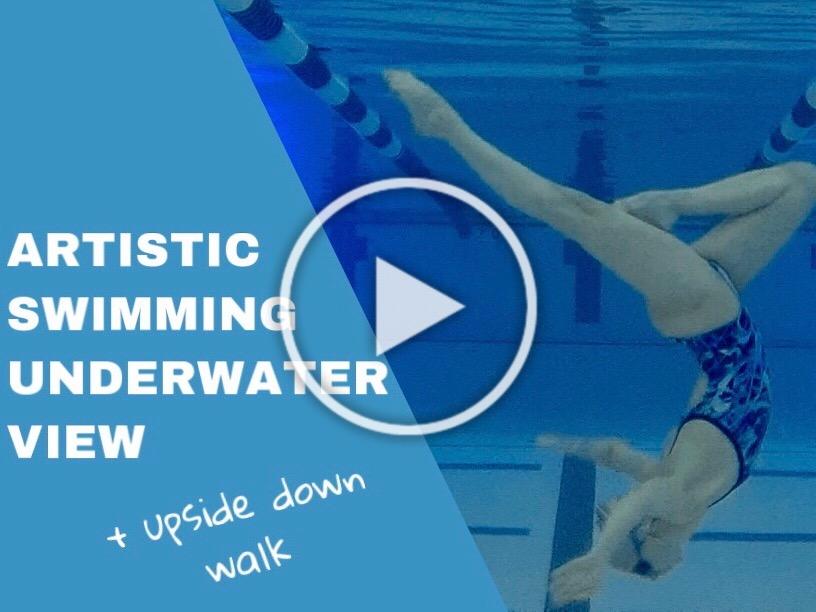 Artistic Swimming Underwater View