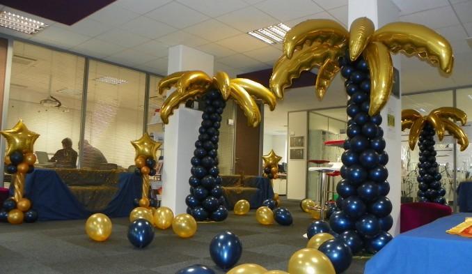 Décoration de ballons palmiers EDF