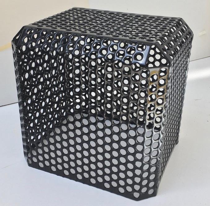 Sièges cube perforé Musée d'Arts décoratifs Paris