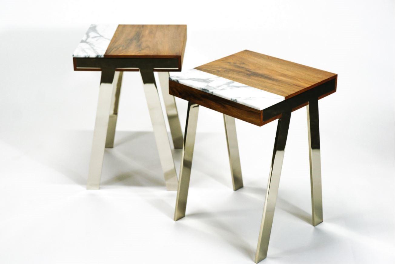 pieds de table chromé modèle 1