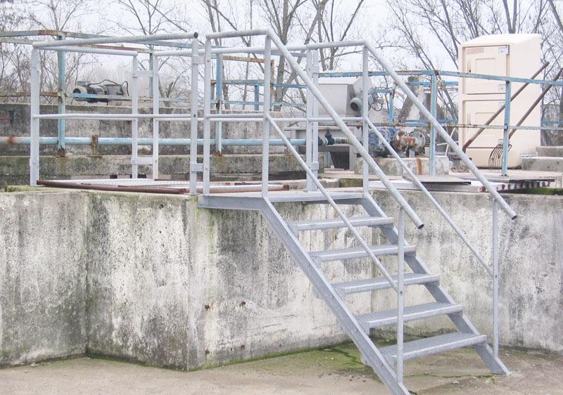 Aménagement d'accès sécurisé pour station d'épuration