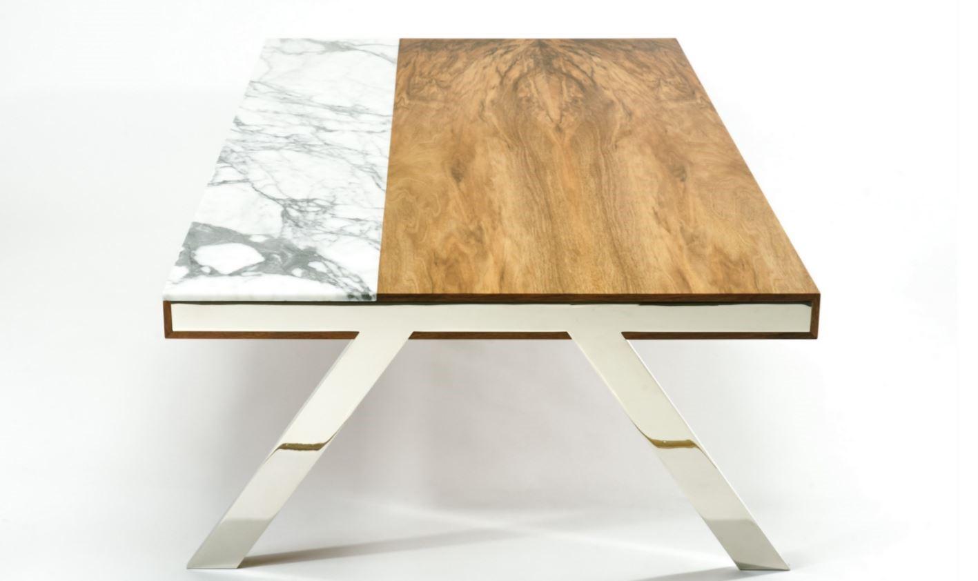 pieds de table chromé modèle 2