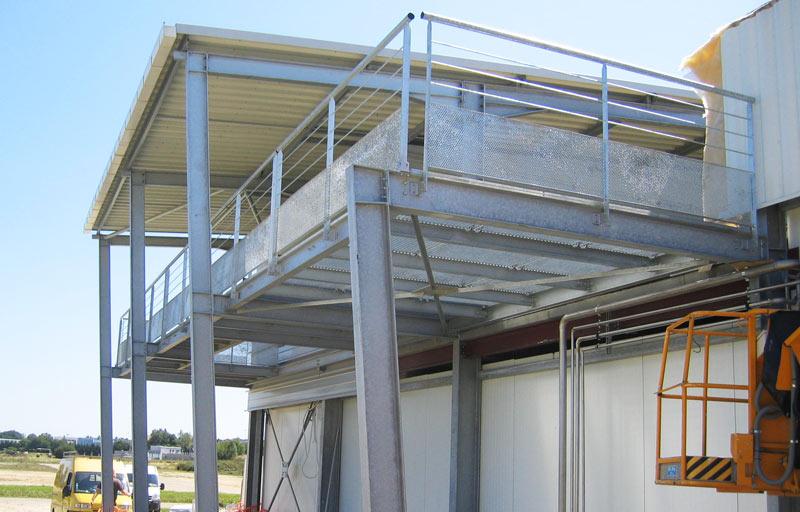 Balcon en métal galavanisé de bâtiment industriel