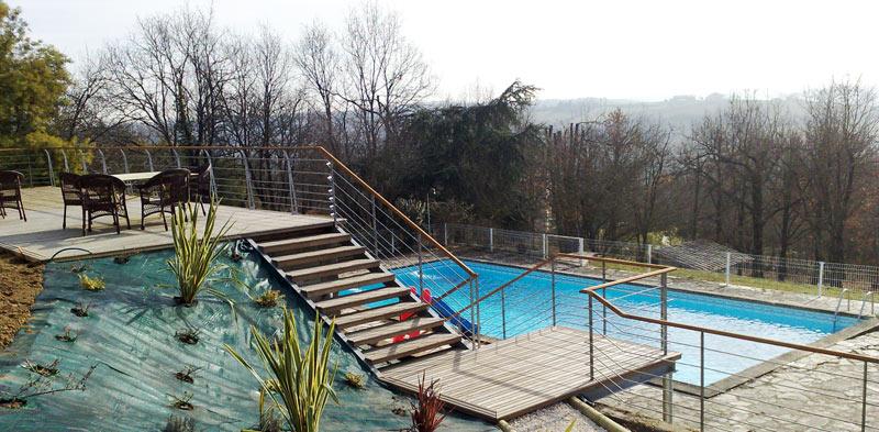 protection de bord de terrasse et escalier
