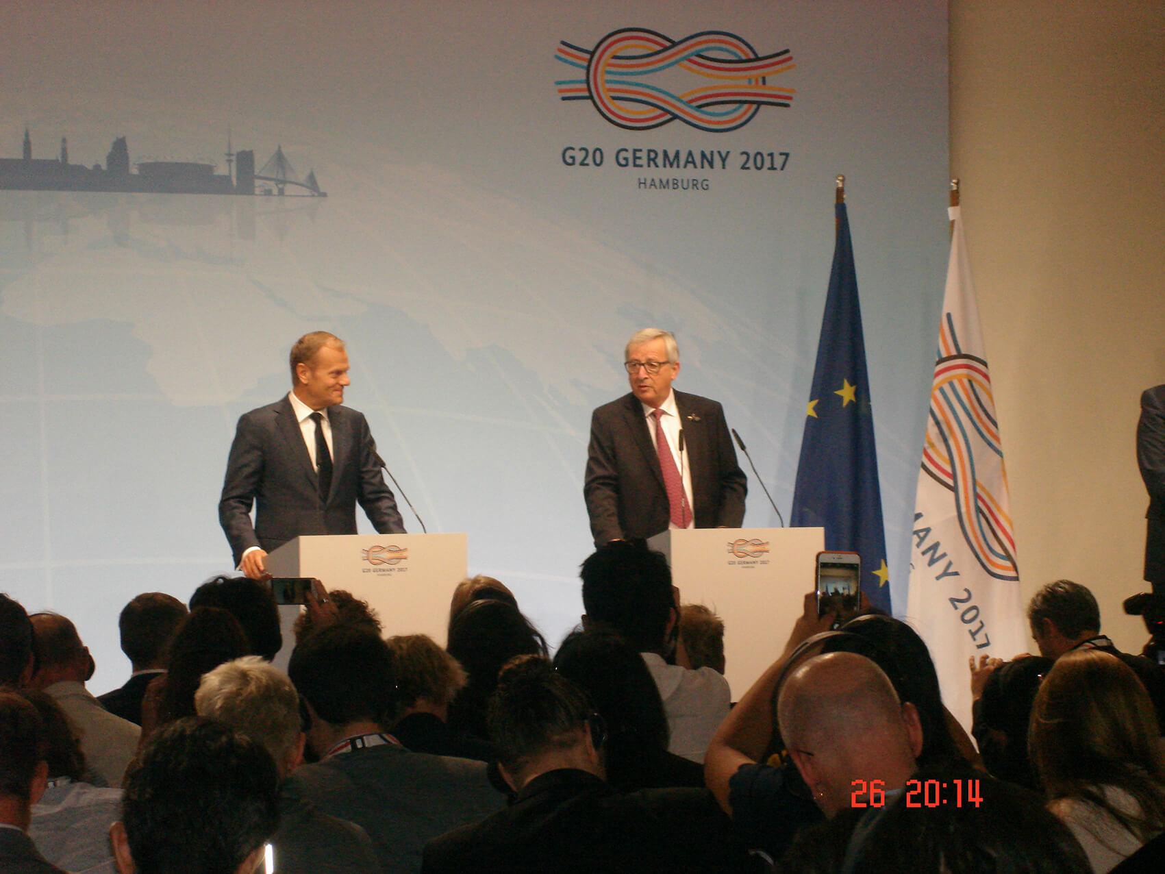 Donald Tusk, Präsident des Europäischen Rates & Jean-Claude Juncker, Präsident der Europäischen Kommission