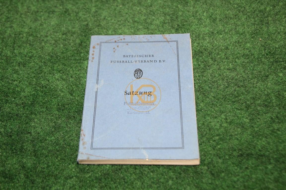 Bayrischer Fußball Verband Satzung aus dem Jahr 1957