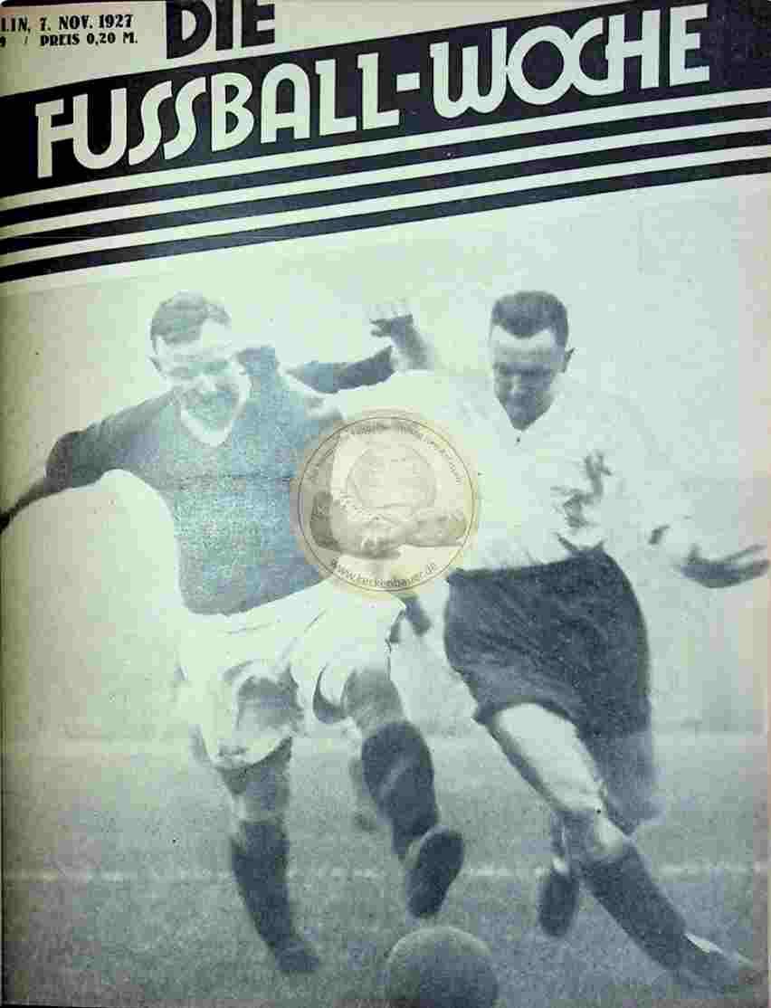 1927 November 7. Fussball-Woche Nr. 89