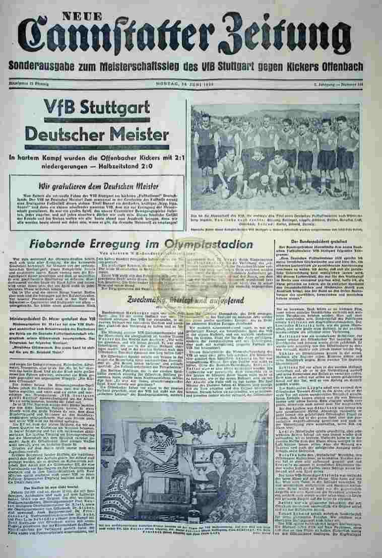 1950 Juni 26. Neue Cannstatter Zeitung Sonderausgabe