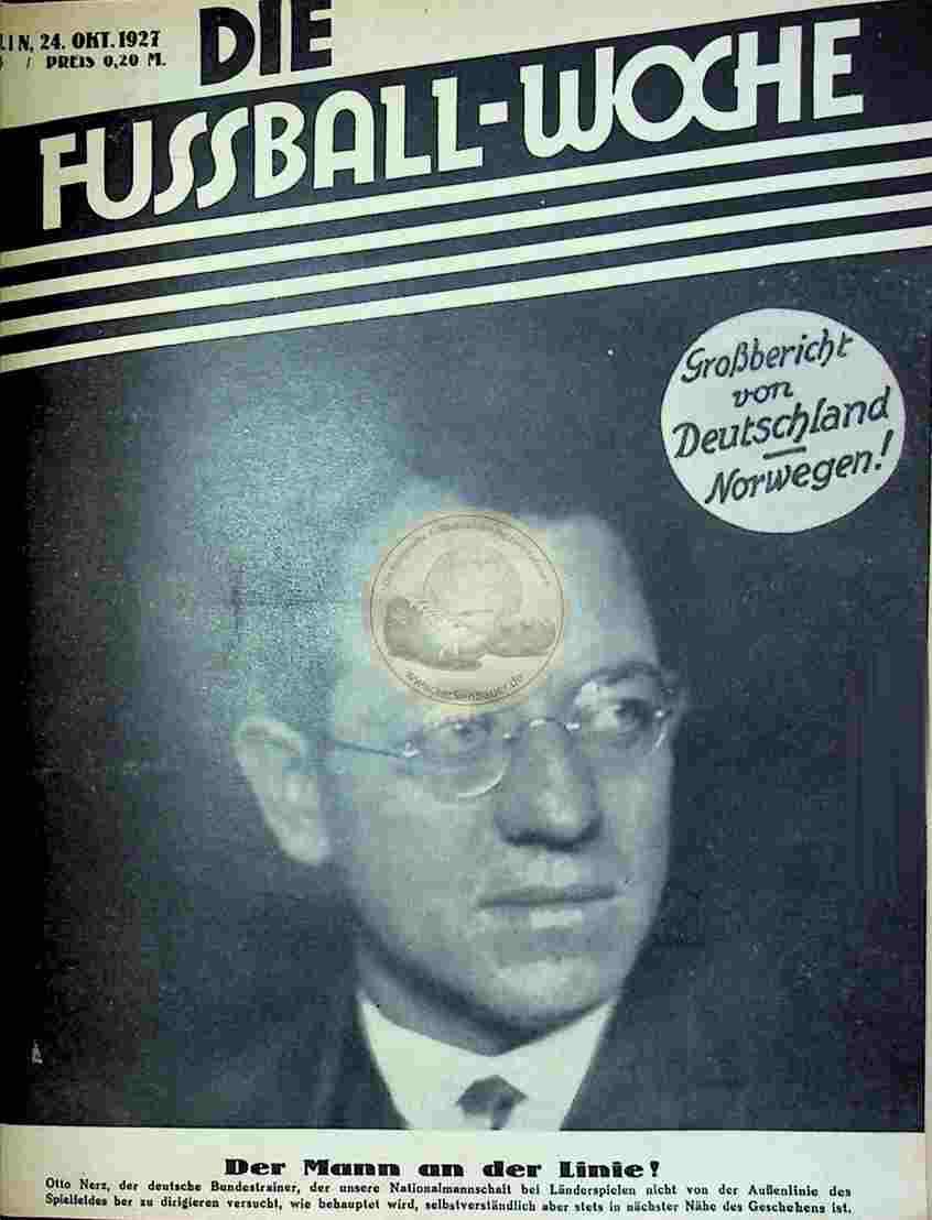 1927 Oktober 24. Fussball-Woche Nr. 85