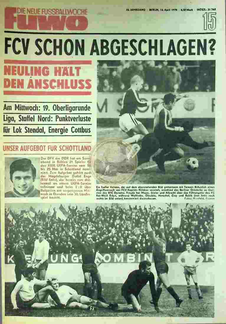 1970 April 14. Die neue Fussballwoche fuwo Nr. 15