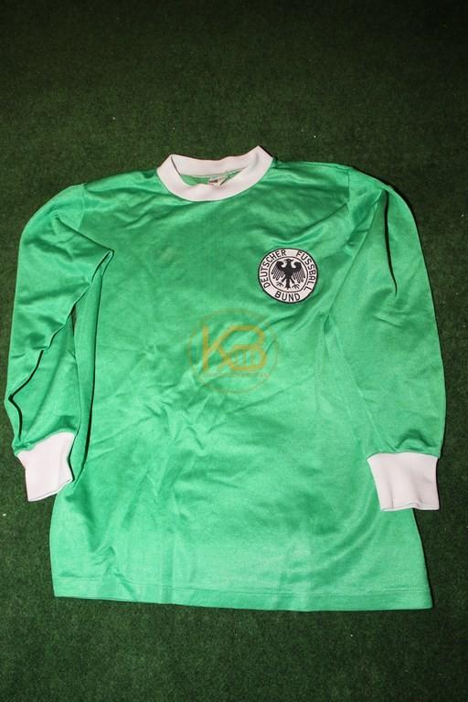DFB Fantrikot in der sehr seltenen Langarm-Variante in Grün vermutlich zur WM 1974 von Adidas/Erima.