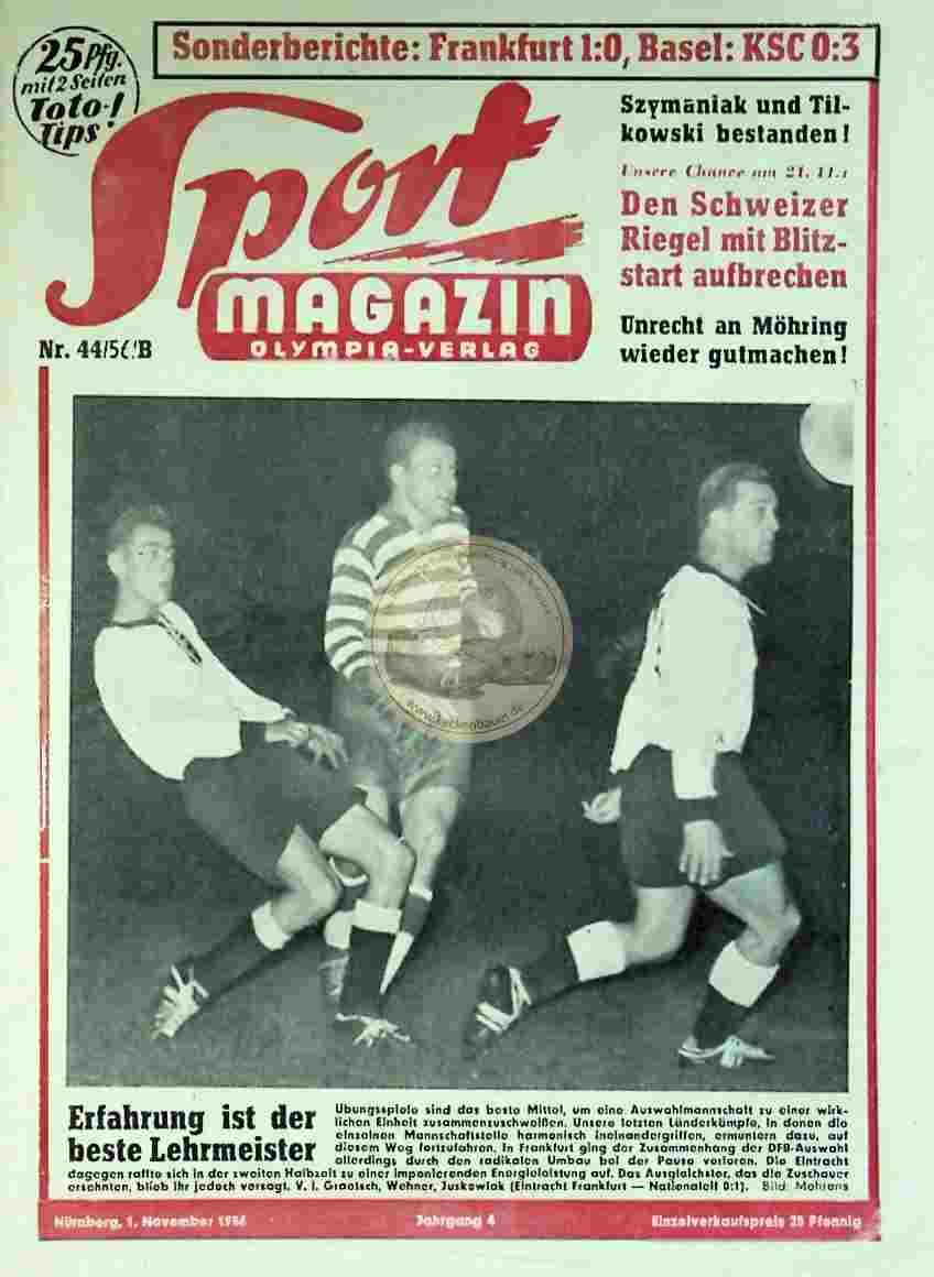 1956 November 1. Sport Magazin Nr. 44
