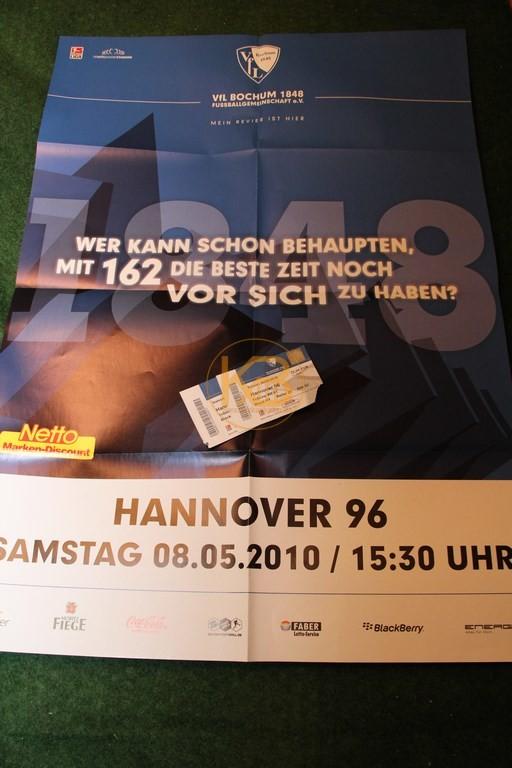 """Spielplakat von """"DEM"""" Abstiegsendspiel in Bochum in der Saison 2009/10."""