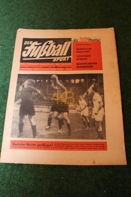 Der Fußball Sport vom 02.08.1954.