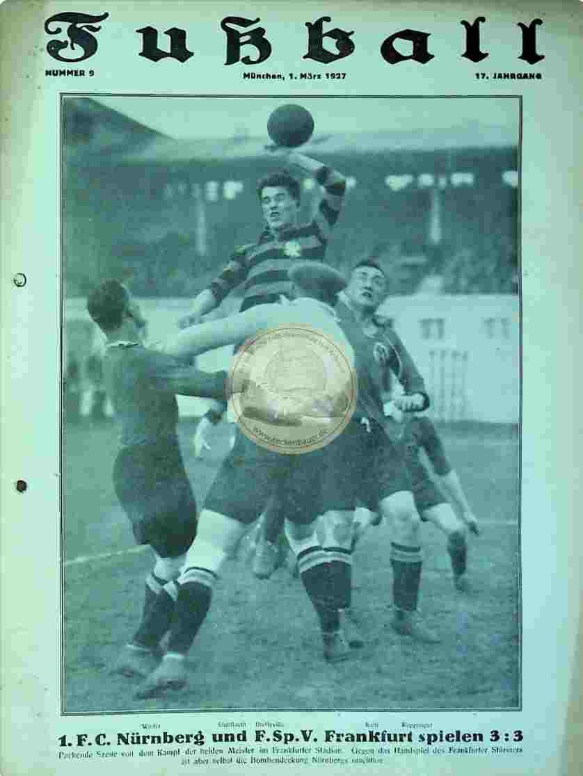 1927 März 1. Fußball Nr. 9
