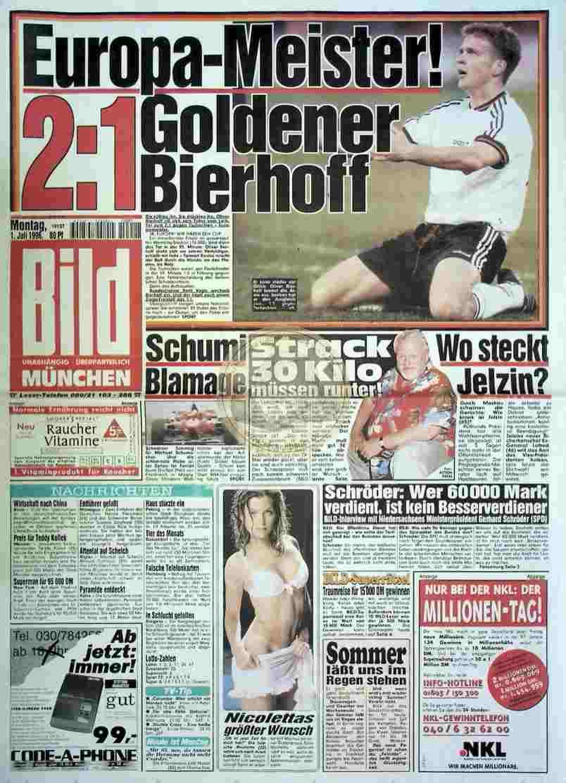 1996 Juli 1. Bildzeitung München