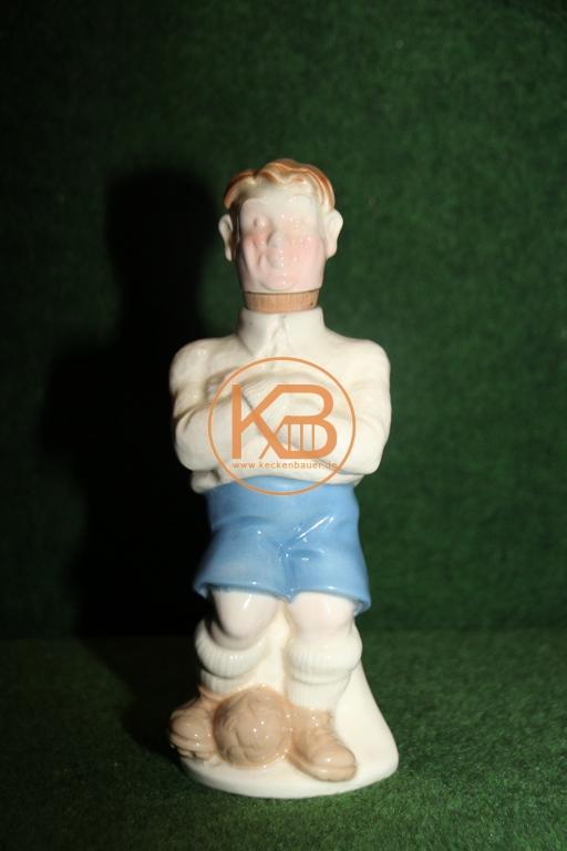 Porzelankaraffe in Form eines Fußballspielers aus den 1950ern