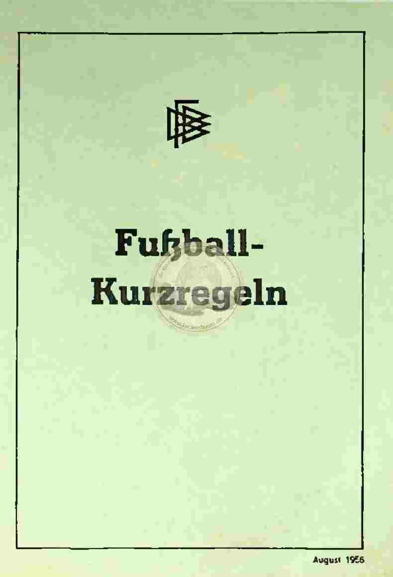 1956 Fußballkurzregeln
