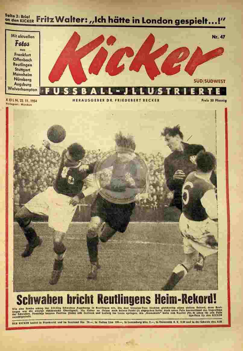 1954 November 22. Kicker Nr.47