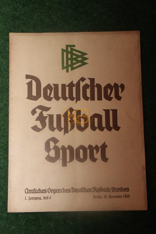 Deutscher Fußballsport Heft 1 vom 16.11.1933