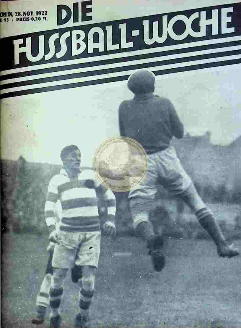 1927 November 28. Fussball-Woche Nr. 95