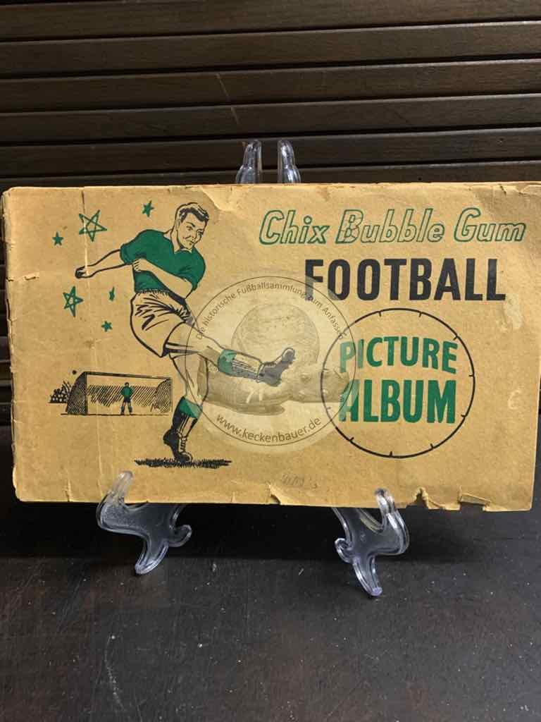 Fußballsammelalbum von Chix Bubble Gum aus den 1920er Jahren aus England komplett