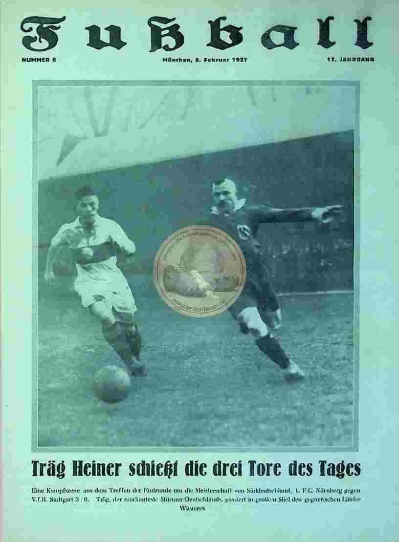 1927 Februar 8. Fußball Nr. 6