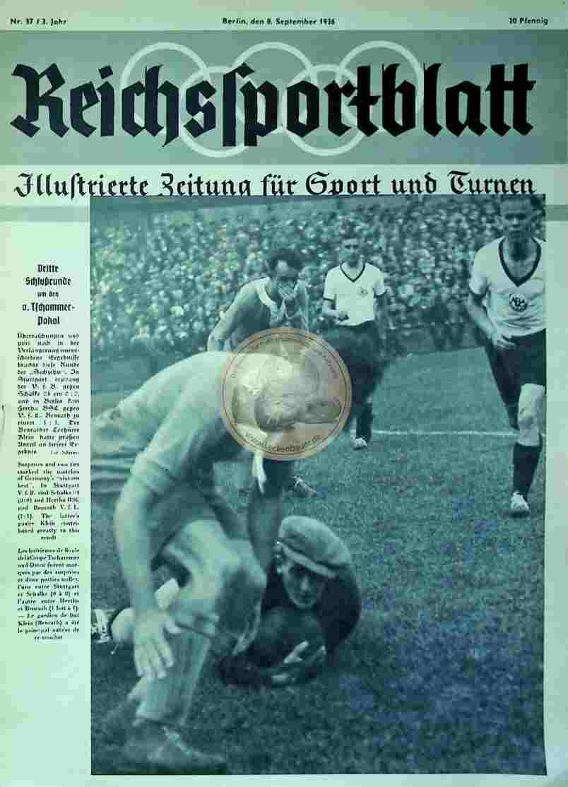 1936 September 8. Reichssportblatt Nr. 37