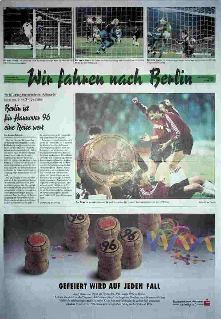1992 Mai 22. Sonderbeilage Neue Presse und HAZ