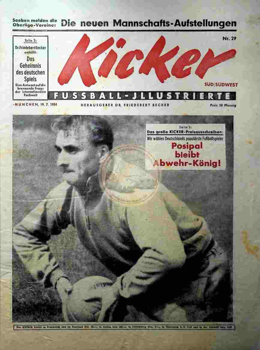 1954 Juli 19. Kicker Nr.29 Süd/Südwest