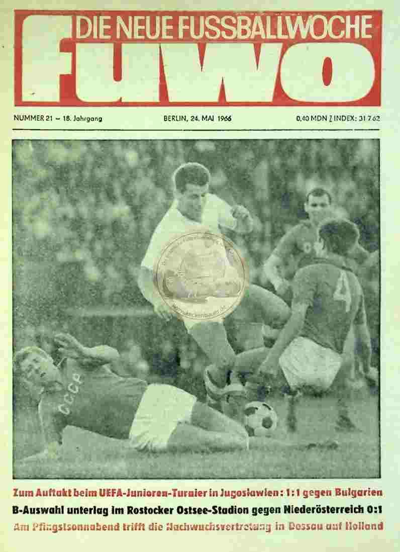 1966 Mai 24. Die neue Fussballwoche fuwo Nr. 18