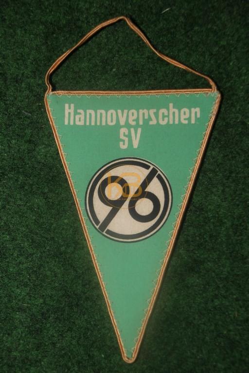 Ein alter Wimpel von Hannover 96, vermutlich aus den 80er Jahren.
