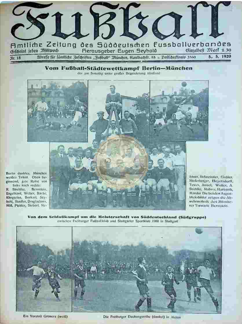 1920 Mai 5. Fußball Nr.18