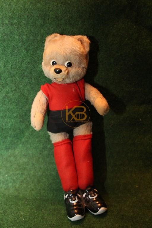 Alter Schuco Teddibär aus den 60ern in den damaligen Farben von Hannover 96.