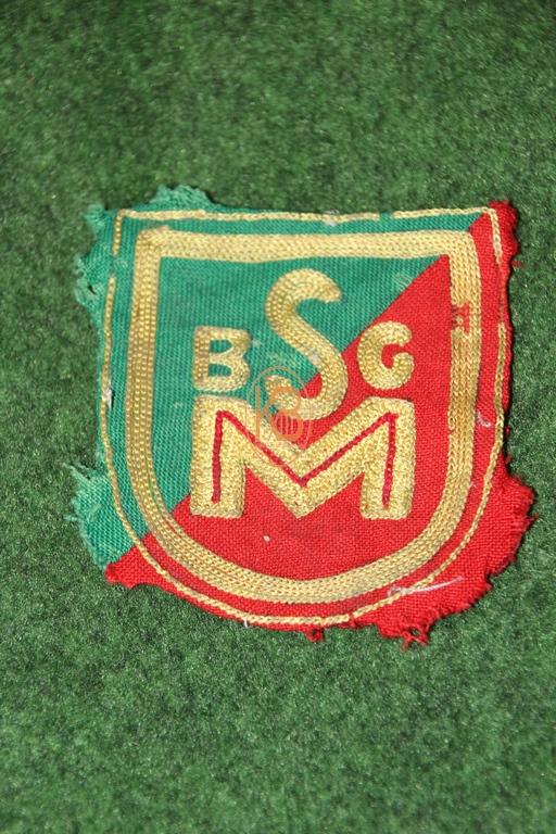 Altes Trikot Emblem eines mir unbekannten Vereins vermutlich aus den 1950ern aus Hamburg BSG M