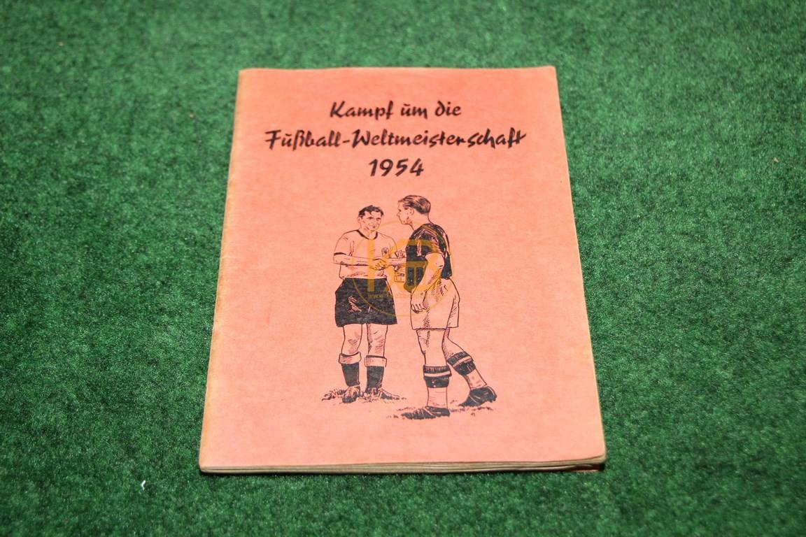 Sammelheft Kampf um die Fußball Weltmeisterschaft 1954 I komplett vom OK Verlag Hamburg (E.A. Walter Schumann Pinneberg i. Holstein)