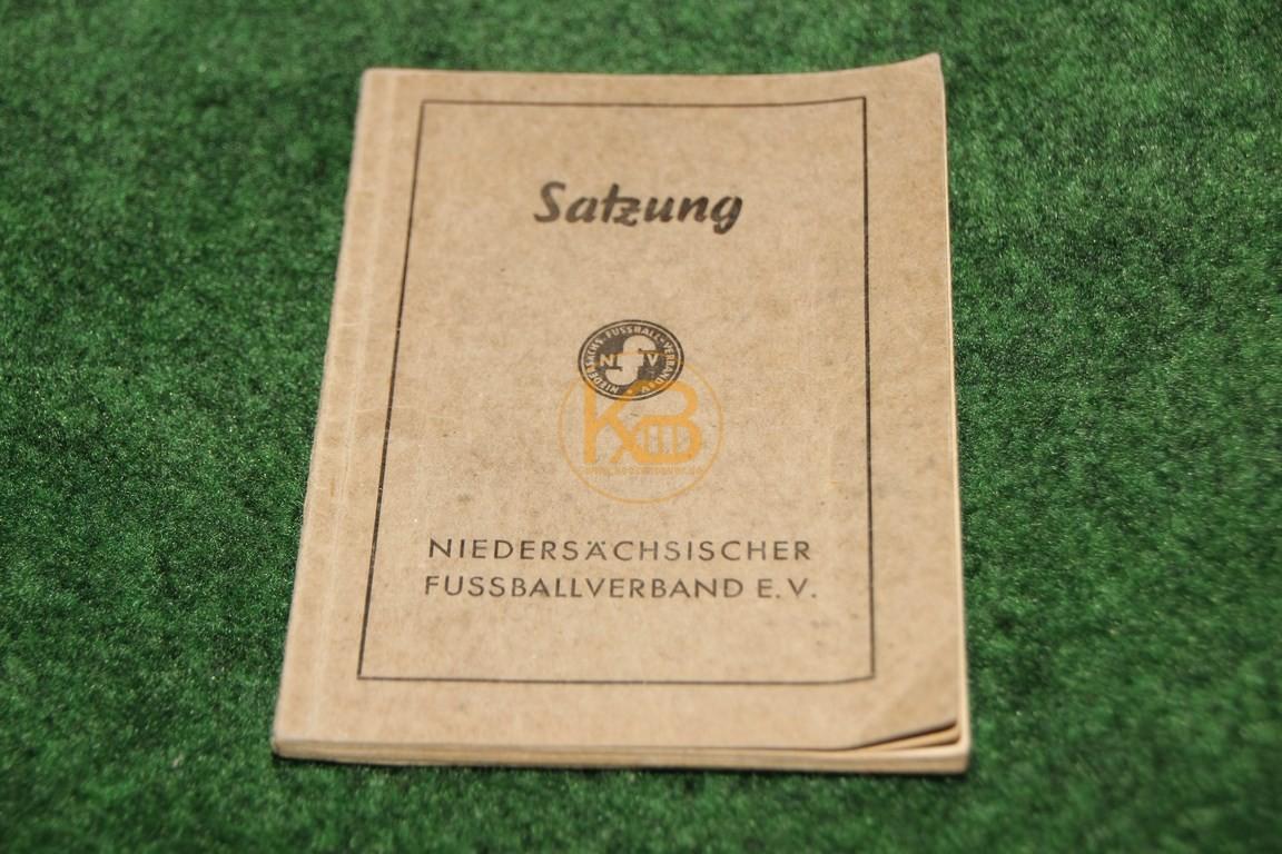 Niedersächsischer Fußballverband Satzung aus dem Jahr 1950