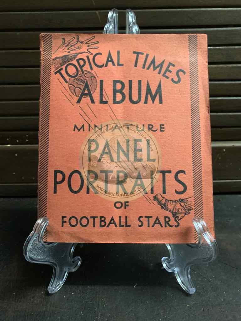 Englische Fußballsammelalbum Topical Times aus dem Jahr 1939, natürlich komplett.