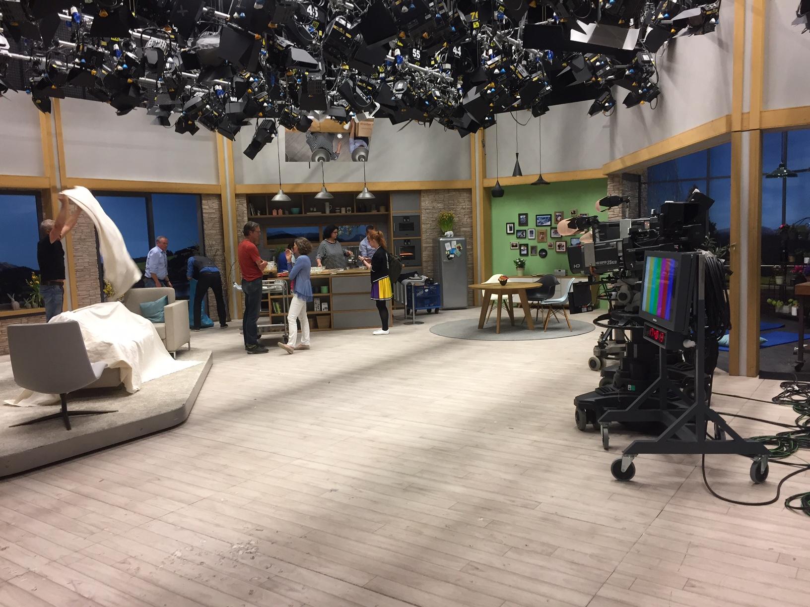 Das Studio nach der Sendung