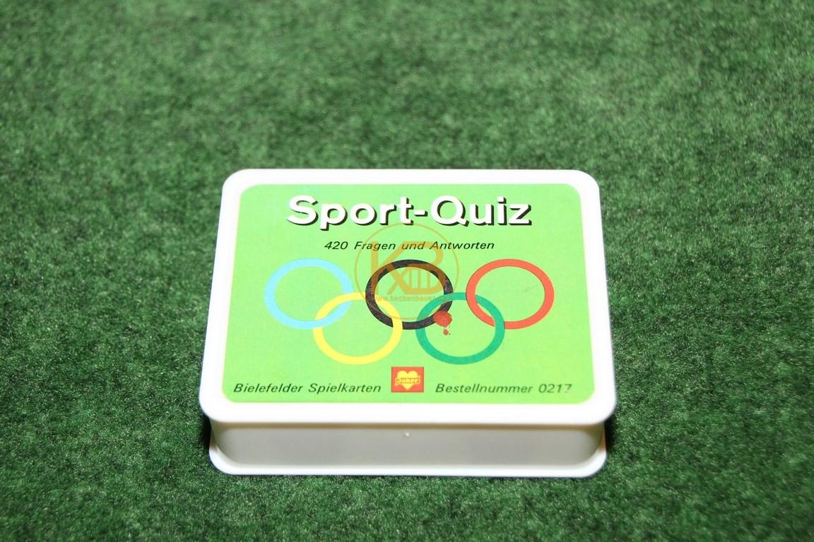 Sport Quiz 0217 von Bielefelder Spielkarten ca. aus den 1980ern. 420 Fragen und Antworten.