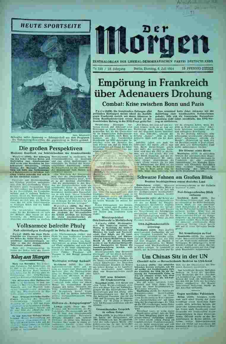1954 Juli 6. Der Morgen