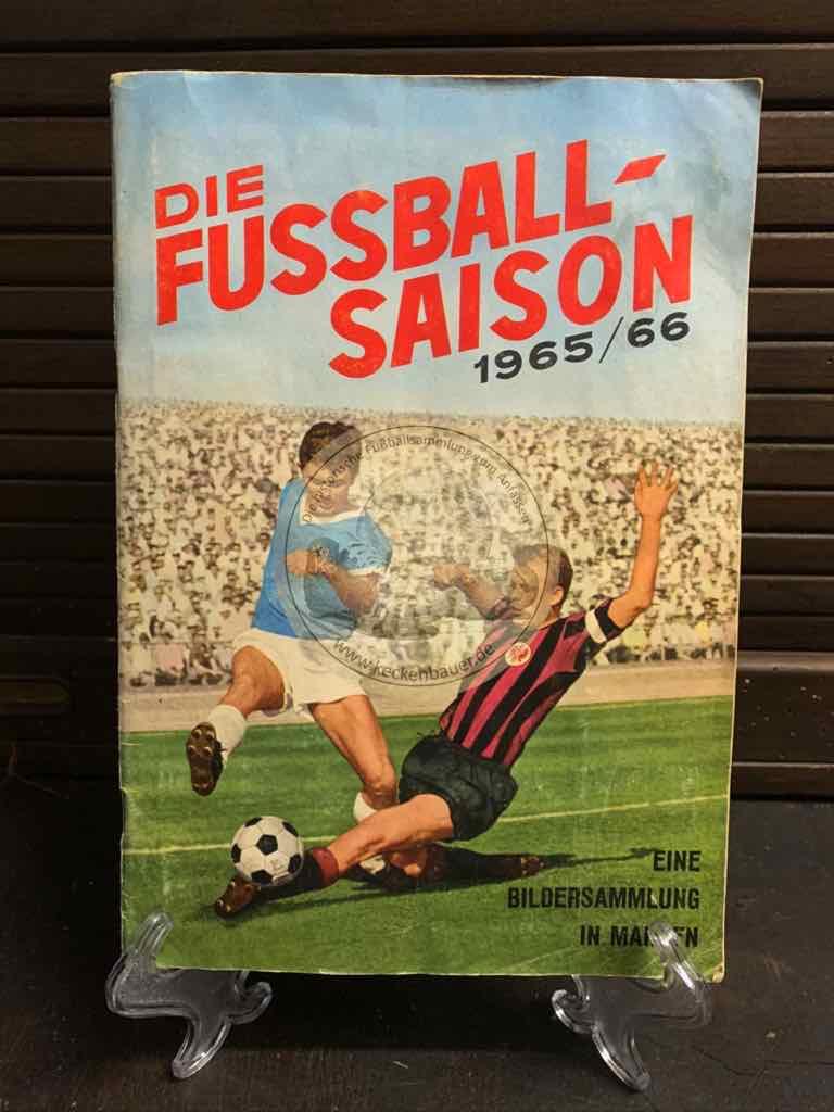 Die Fußball-Saison 1965/66 eine Bildersammlung in Marken, natürlich vollständig.