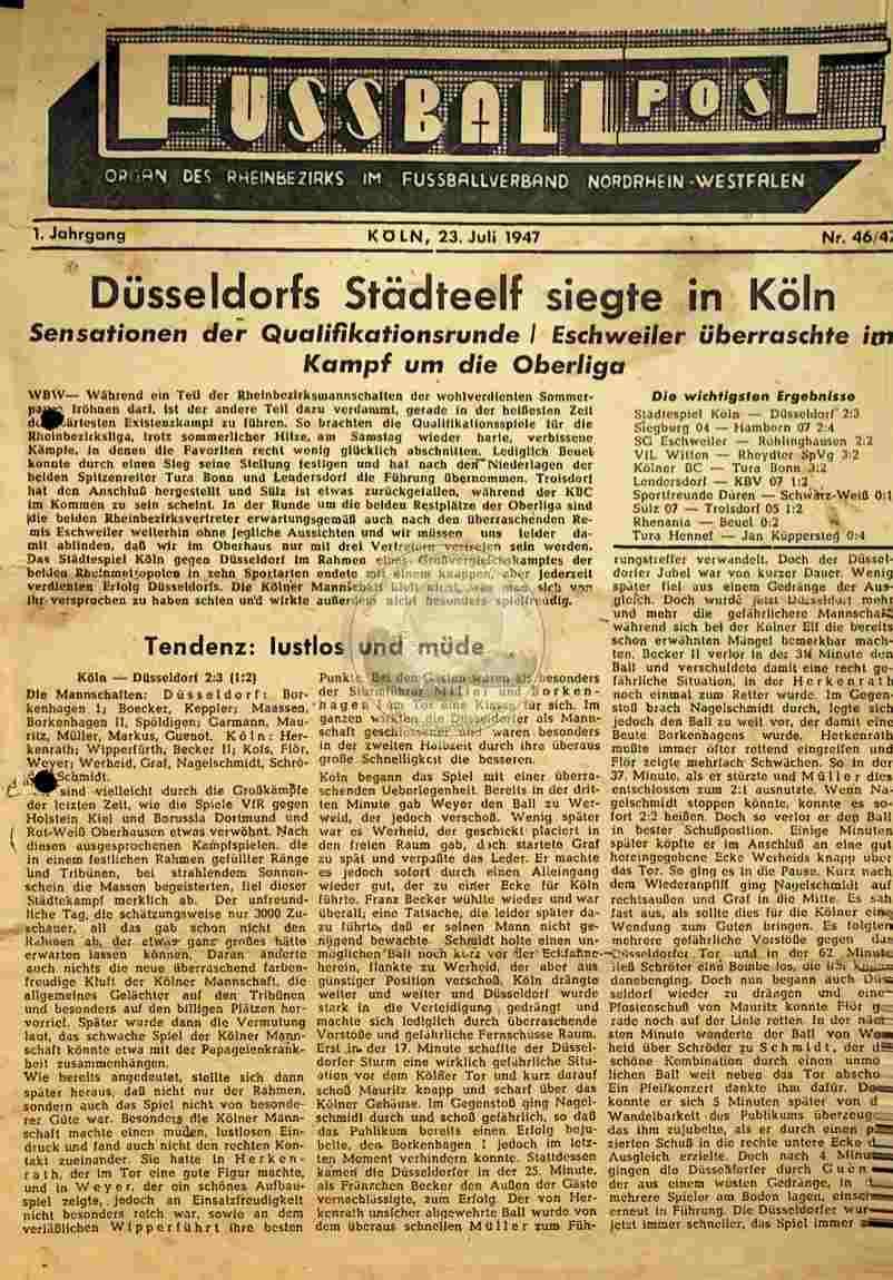1947 Juli 23. Fussballpost Nr.46