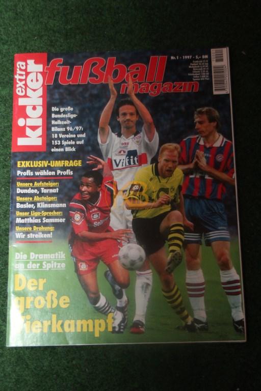 Kicker extra Fußball Magazin Nummer 1 von 1997