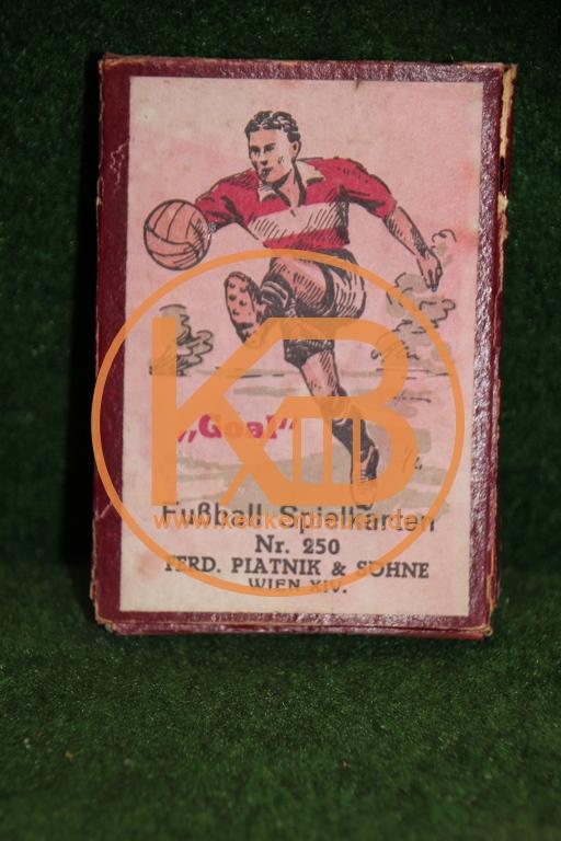 """Altes Kartenspiel """"Goal"""" Fußballspielkarten Nr. 250 von Ferd. Platnik & Söhne Wien XIV"""