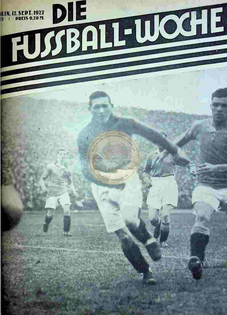 1927 September 12. Fussball-Woche Nr. 73
